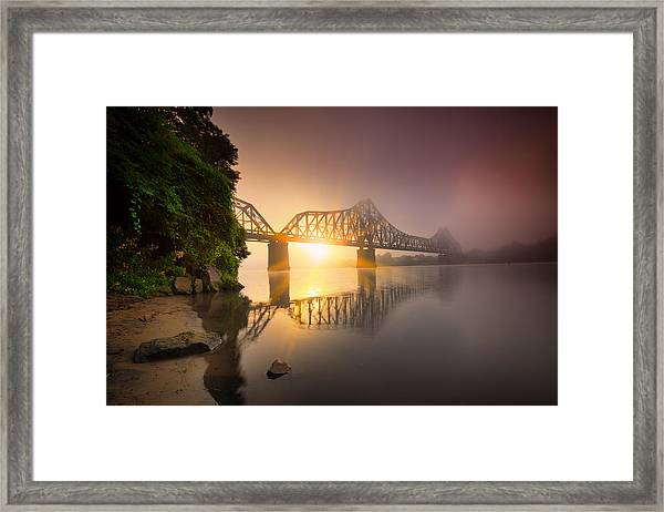 Railroad Bridge Framed Print