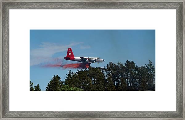 P2v Red Canyon Fire Framed Print