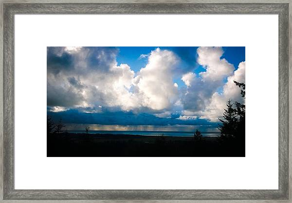 Pacific Blues Framed Print