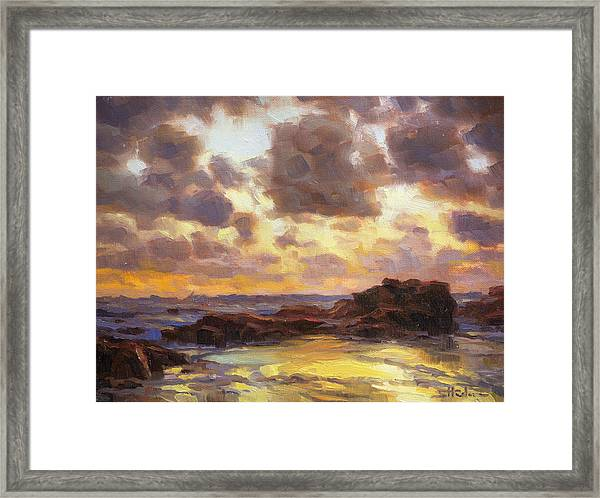 Pacific Clouds Framed Print
