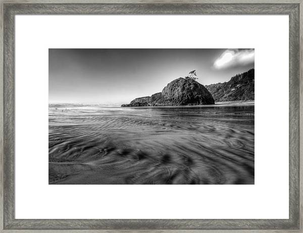 Pacific Coast Tide Framed Print by Drew Castelhano