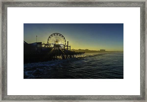 Pacific Park Ferris Wheel Framed Print