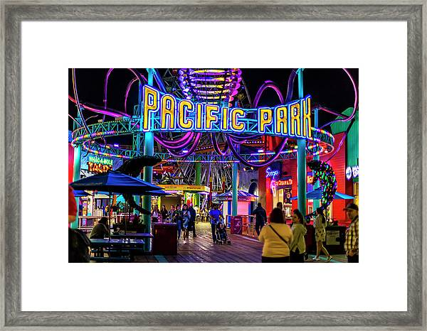 Pacific Park - On The Pier Framed Print