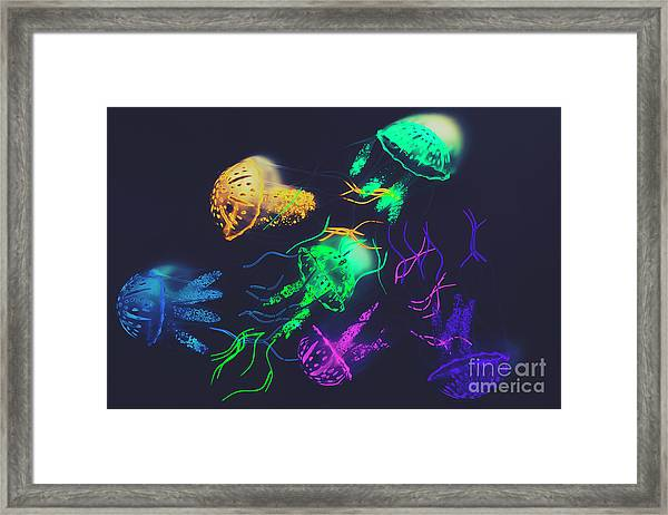 Pacific Pop-art Framed Print