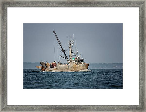 Framed Print featuring the photograph Pacific Viking by Randy Hall