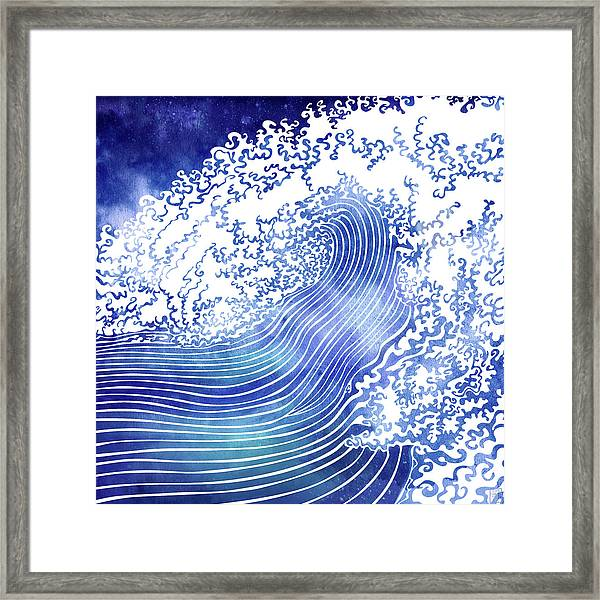 Pacific Waves II Framed Print