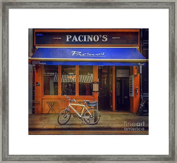 Pacino's Garda Bicycle Framed Print