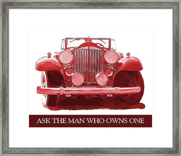 Packard Ask The Man Red Framed Print