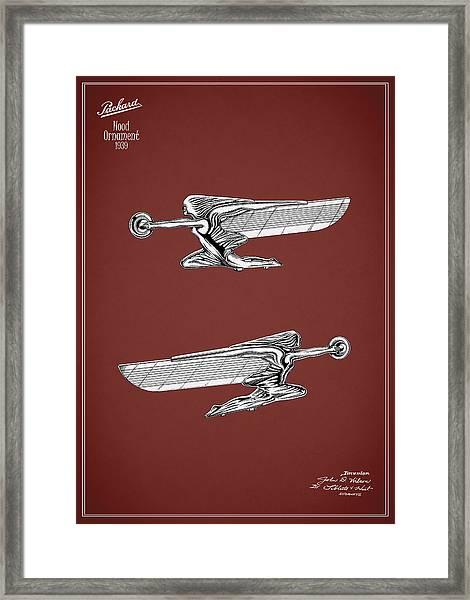 Packard Hood Ornament 1939 Framed Print