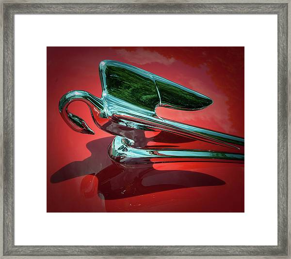 Framed Print featuring the photograph Packard Caribbean Hood Ornament by Samuel M Purvis III