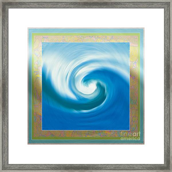 Pacswirl With Border Framed Print