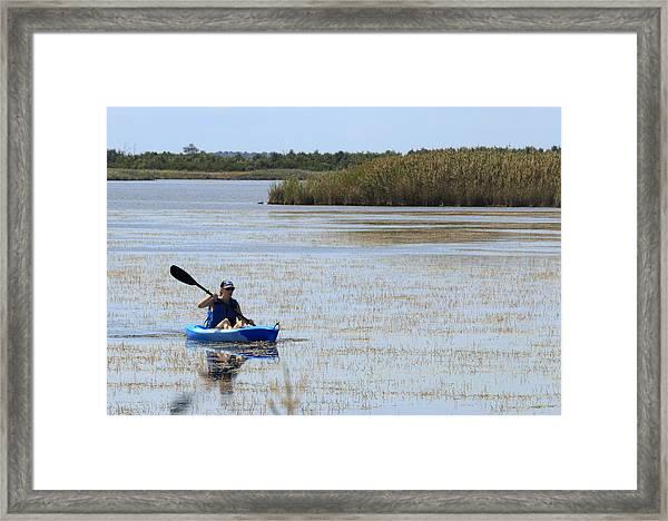 Paddle Away Framed Print