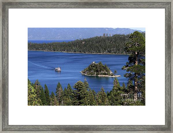 Paddle Boat Emerald Bay Lake Tahoe California Framed Print