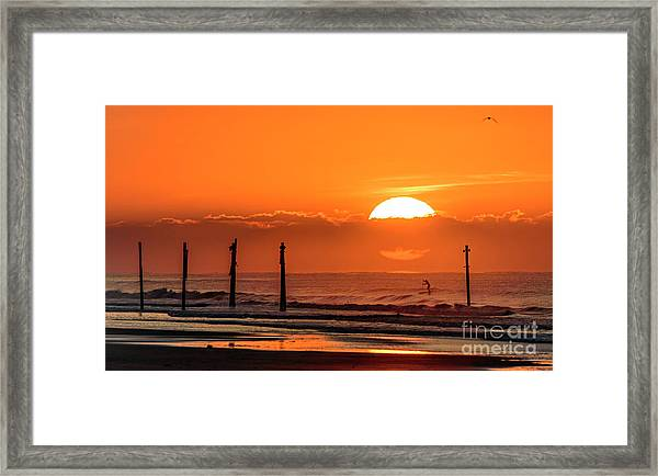 Framed Print featuring the photograph Paddle Home by DJA Images