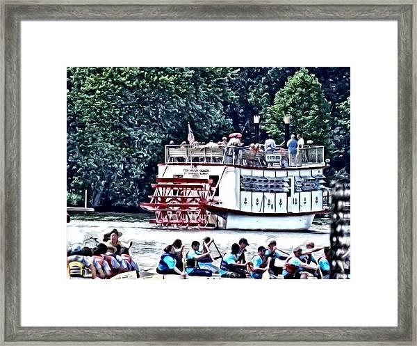 Paddleboat Framed Print