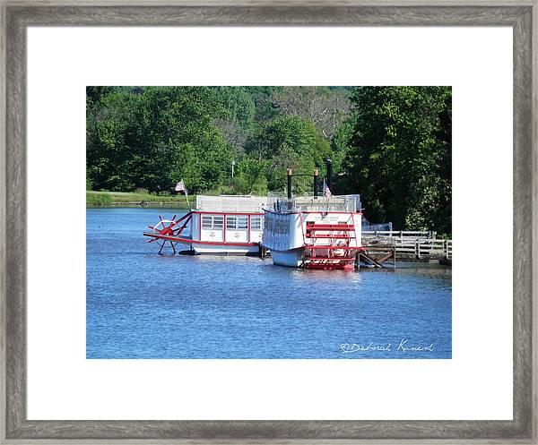 Paddleboat On The River Framed Print