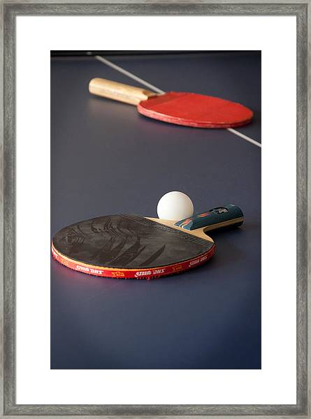 Paddles And Ball Framed Print