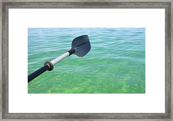 Paddling Grand Traverse Bay Framed Print