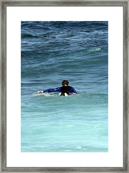 Paddling Out Framed Print
