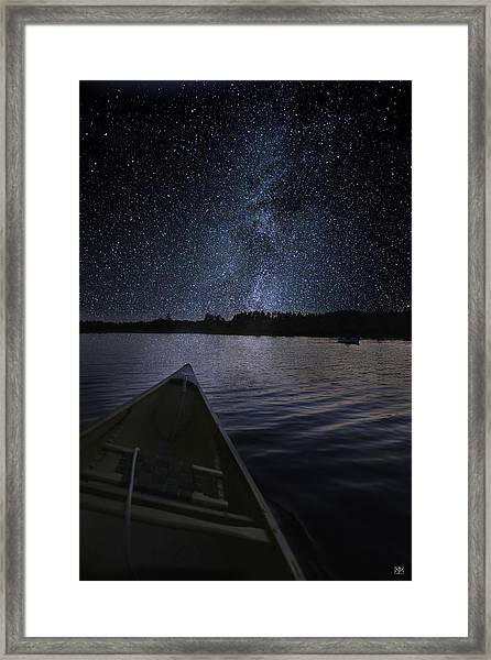 Paddling The Milky Way Framed Print