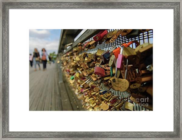 Padlock Bridge Framed Print
