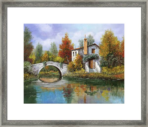 Paesaggio Pastellato Framed Print