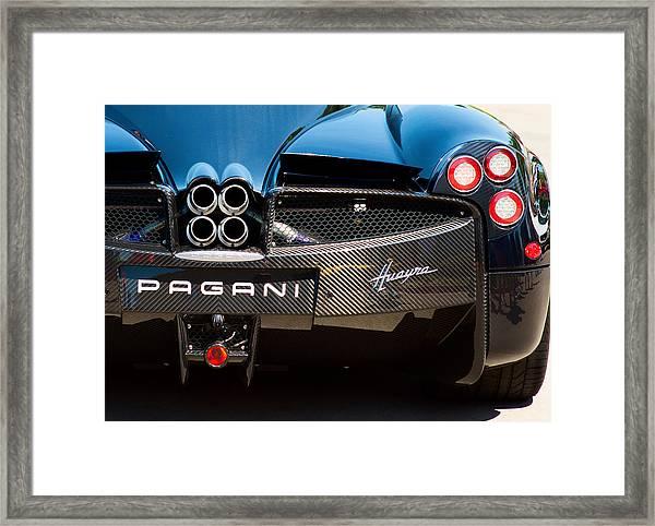 Pagani Huayra Black Framed Print
