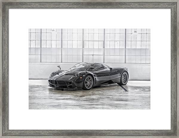 Pagani Huayra Framed Print