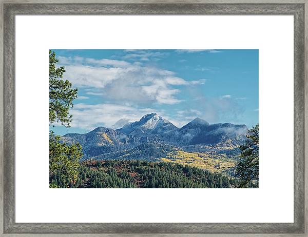 Framed Print featuring the photograph Pagosa Peak Autumn 2014 by Jason Coward