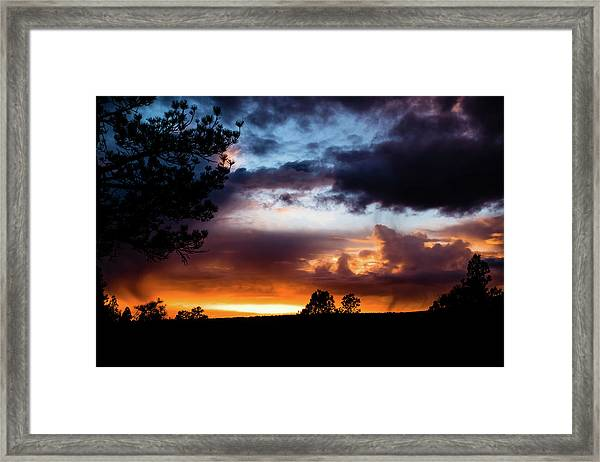 Pagosa Sunset 11-20-2014 Framed Print