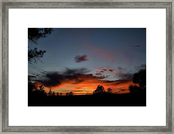 Framed Print featuring the photograph Pagosa Sunset 11-30-2014 by Jason Coward
