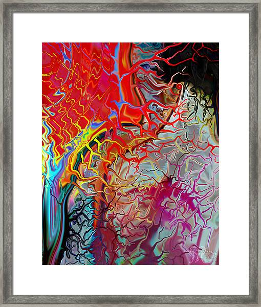 Pain Slow Death Two Framed Print by Karen Musick
