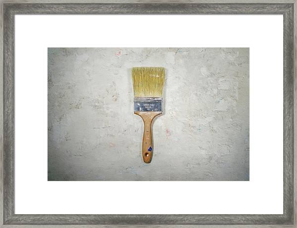 Paint Brush Framed Print