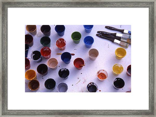 Paint Cups Framed Print by Randy Muir