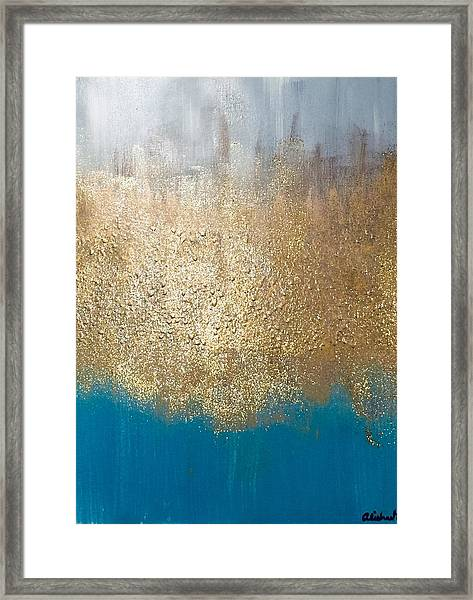 Paint The Sky Gold Framed Print
