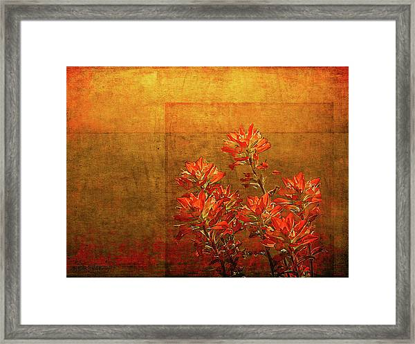 Paintbrush On The Horizon Framed Print