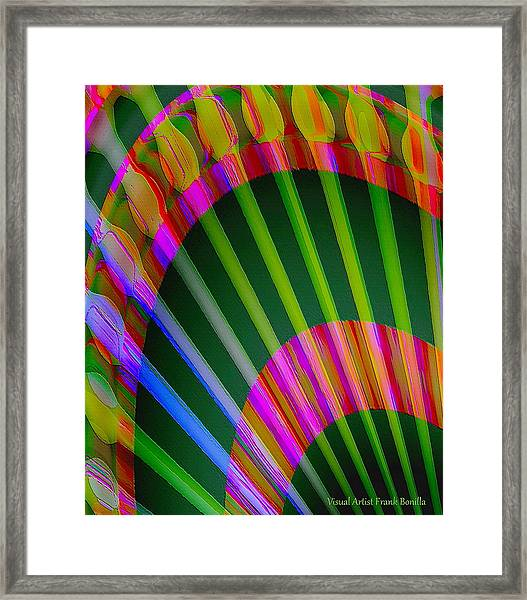 Framed Print featuring the digital art Paintbrushes by Visual Artist Frank Bonilla
