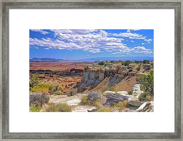 Painted Desert Of Utah Framed Print