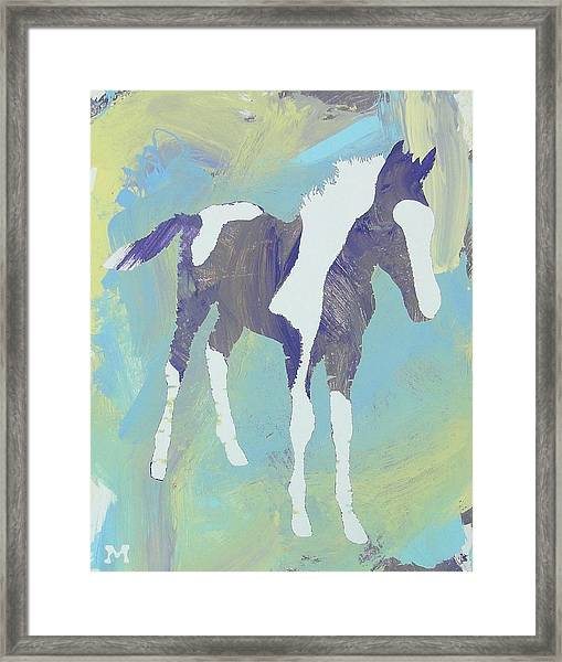 Framed Print featuring the painting Painted Foal by Candace Shrope
