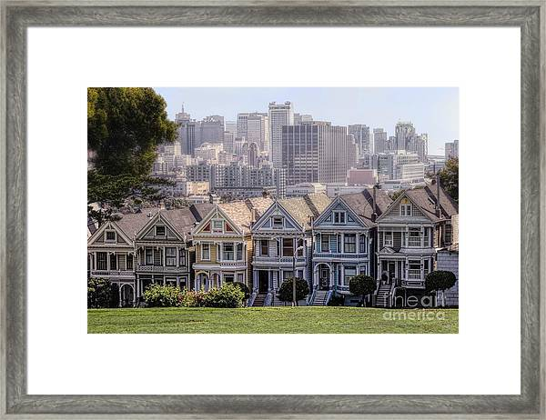 Painted Ladies Of Alamo Square Framed Print