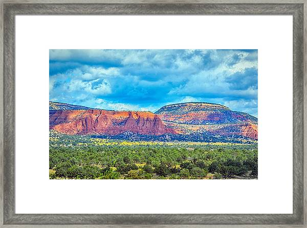 Painted New Mexico Framed Print