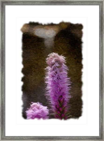 Painted Purple Flower Framed Print
