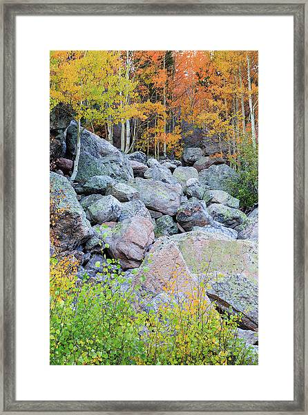 Painted Rocks Framed Print