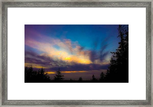 Painted Sky Framed Print