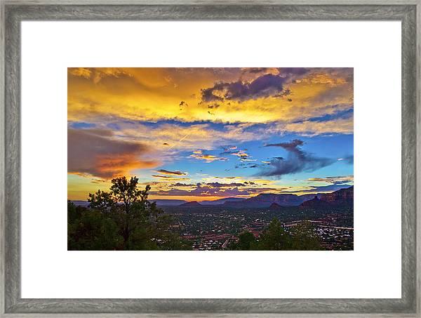 Painted Sky's Over Sedona Framed Print