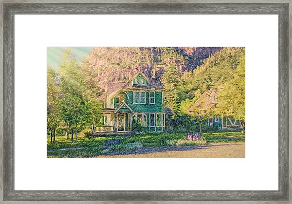 Painted Victorian Framed Print