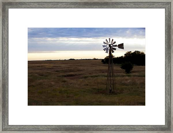 Painted Windmill Framed Print