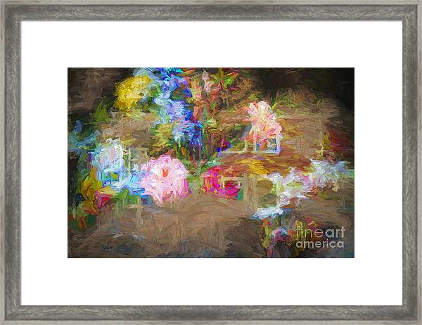 Painterly Posy Framed Print