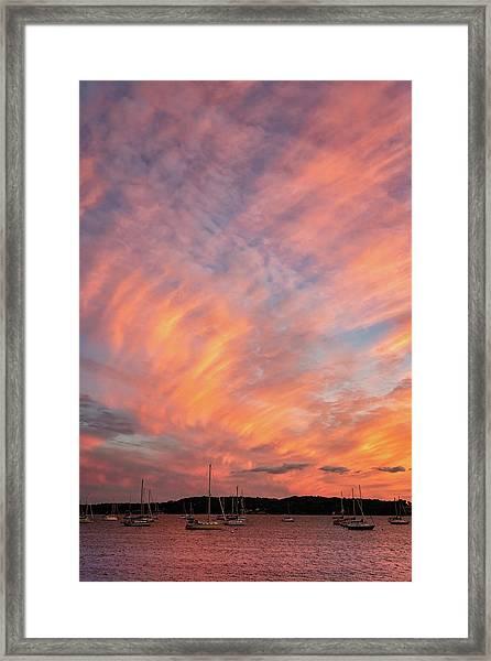 Painterly Sunset Framed Print