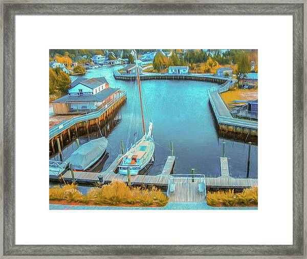 Painterly Tuckerton Seaport Framed Print